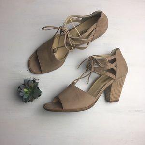 Paul Green Veronica Sisal Nubuk Leather Sandals